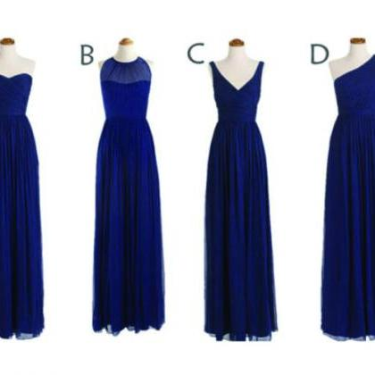 Long Bridesmaid Dress, Navy blue Br..