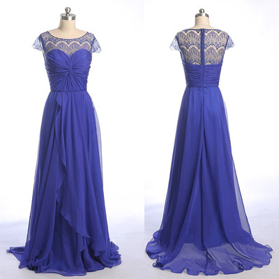 Long Bridesmaid Dress, Lace Bridesm..