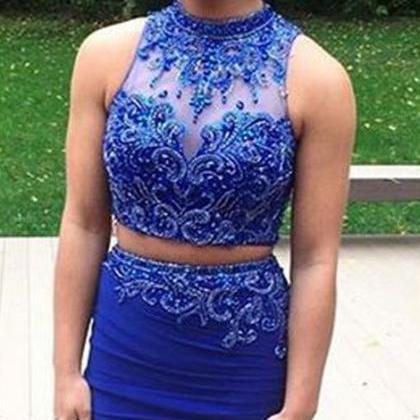 Short Homecoming Dress,Royal blue h..