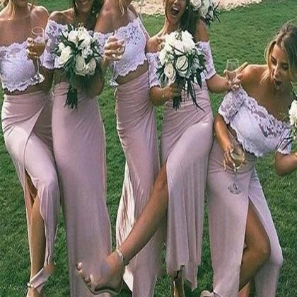 Off The Shoulder Bridesmaid Dress, ..