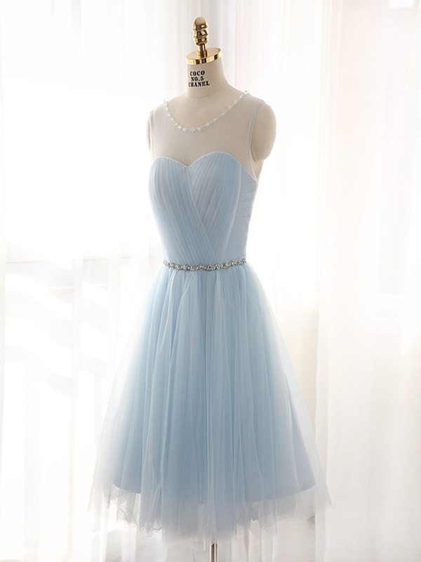 c9eac46a8597 Short custom Homecoming Dress,light blue Homecoming Dresses,cute Homecoming  Dress,tulle Homecoming Dress,beads Homecoming Dress,popular cheap homecoming  ...