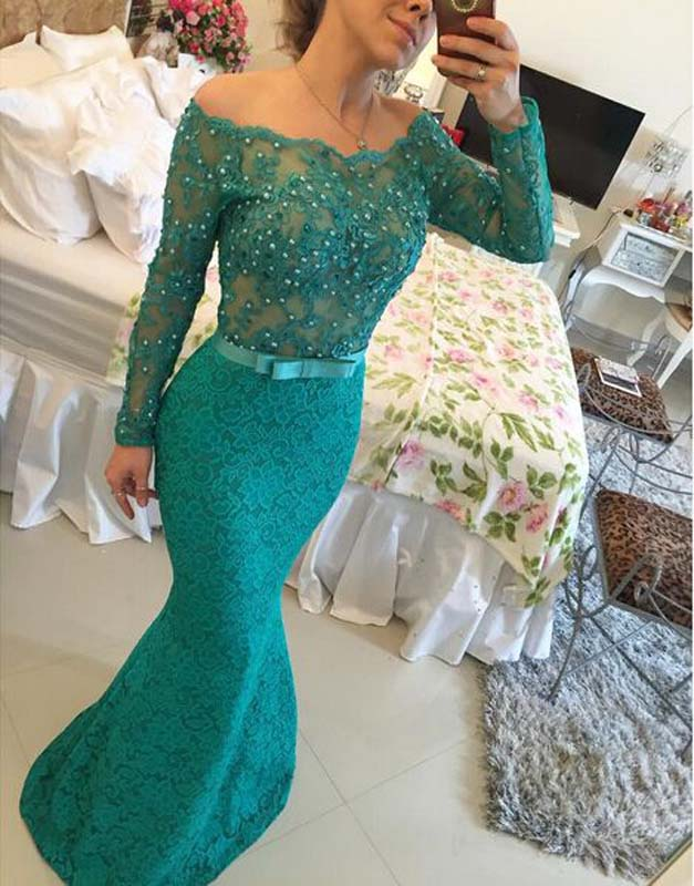 Long Custom Prom Dressforest Green Prom Dress Prom Dress With Long