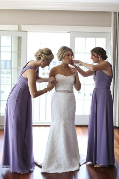 Lilac Bridesmaid Dresses,Chiffon bridesmaid dresses,Sleeveless bridesmaid dresses, Floor length bridesmaid dresses,Cheap bridesmaid dresses. BD00004