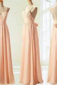 Long Bridesmaid Dress, Chiffon Bridesmaid Dresses, Open back Bridesmaid Dress, Cheap Bridesmaid Dress, PD0015