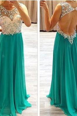 Long Prom Dress, Backless Prom Dress, Cheap Prom Dress,Chiffon Prom Dress, Sexy Prom Dress, PD0056