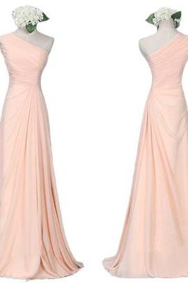 Blush Pink Bridesmaid Dress,Custom Bridesmaid Dresses, Simple Bridesmaid Dress,Chiffon Bridesmaid Dress, Cheap Bridesmaid Dress,Long Bridesmaid dress,PD0086