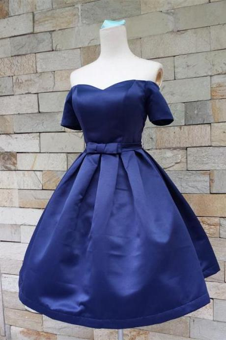 Short Homecoming Dress,Custom Homecoming Dresses,off shoulder Homecoming Dress,blue Homecoming Dress,organza homecoming dresses, elegant homecoming dress,simple Homecoming Dress PD00114
