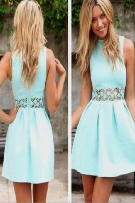 Short Homecoming Dress,Simple homecoming dress,blue homecoming dress ,modest homecoming dress,tight homecoming dress,freshman dress,Teal homecoming dress,dress for teensPD008340