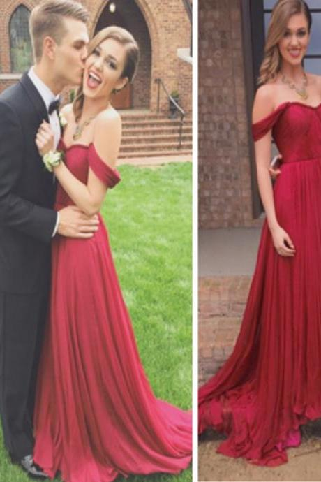 Custom Made Off Shoulder Maroon/ burgundy Prom Dresses, Long Evening Dresses, Formal Dresses, Simple Prom Dresses, Prom Dresses, Evening Party Dress.PD01216