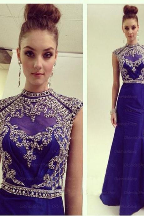 Long blue prom dress, modest prom dresses, blue prom dress, sexy prom dresses, long prom dresses, 2017 prom dresses, sexy prom dresses, dresses for prom. PD0095