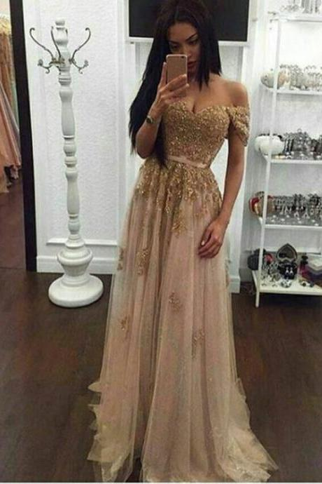 Gold Sequin Prom Dress on Luulla