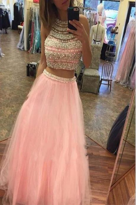 Halter Chiffon Prom Dress,Long Prom Dresses,Charming Prom Dresses,Evening Dress Prom Gowns, Formal Women Dress,prom dress,White Prom dress, Party dresses. PD0121086