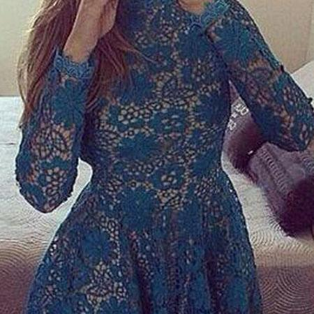 Short Homecoming Dress,long sleeve homecoming dress,homecoming dress with lace,vintage homecoming dress,elegant homecoming dress,cheap homecoming dress,2016 homecoming dressPD0080216