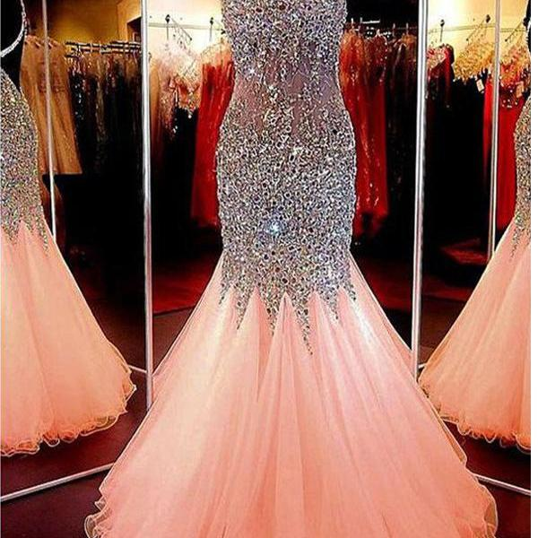 Long Custom prom dress, Sweetheart Prom dress, Neckline Mermaid Open Back Beading Prom Dress ,Evening Dresses, Formal Women Dress,prom dress .PD0121111