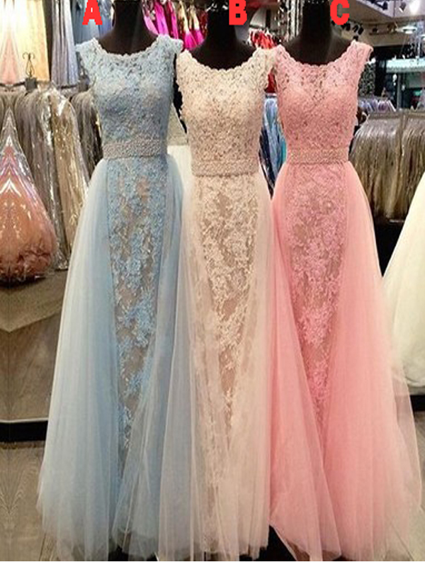 Long Custom Prom Dress,Different Color Prom Dress, Prom Dress With ...